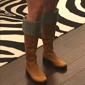 Cole Haan -Tan leather over the knee riding boots